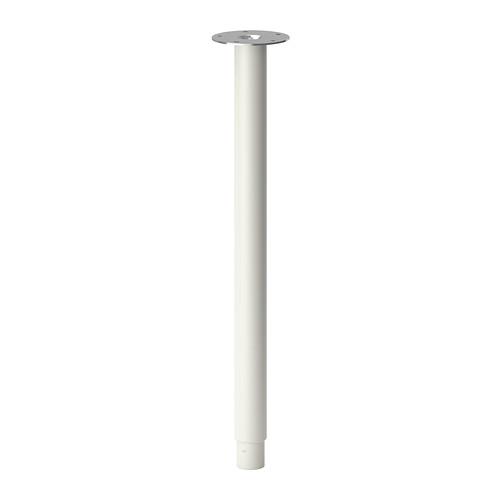 【IKEA Original】OLOV 伸縮式 可変域60-90cm テーブル 脚 1本 ホワイト 70 cm