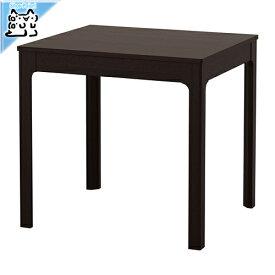 【IKEA Original】ikea テーブル EKEDALEN -エーケダーレン- 伸長式テーブル ダークブラウン 80/120x70 cm 2〜4人用