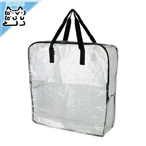 【IKEA Original】DIMPA キャリーバッグ 収納バッグ 透明 65x22x65 cm
