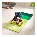 【IKEAOriginal】PLUFSIG折りたたみ式ジムマットヨガマットグリーン78x185cm