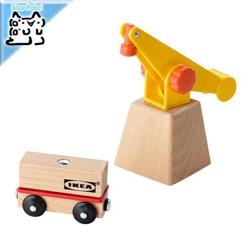【IKEA Original】LILLABO クレーン&ワゴン3点セット プラスチック/無垢材
