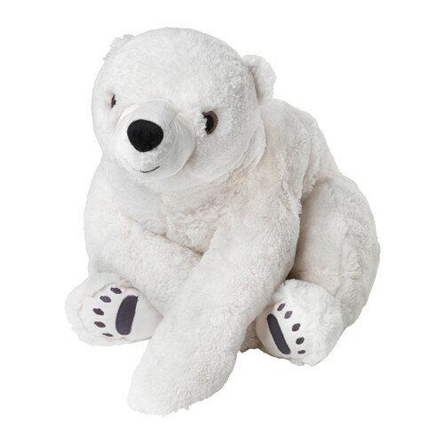 【IKEA Original】SANGTRAST ソフトトイ ぬいぐるみ ホッキョクグマ ホワイト 60cm