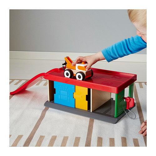 【IKEA Original】LILLABO-リラブー- お子様用おもちゃ ガレージ&レッカー車