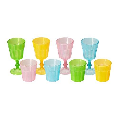 【IKEA Original】DUKTIG おもちゃのグラス 8 ピース マルチカラー ままごとセット