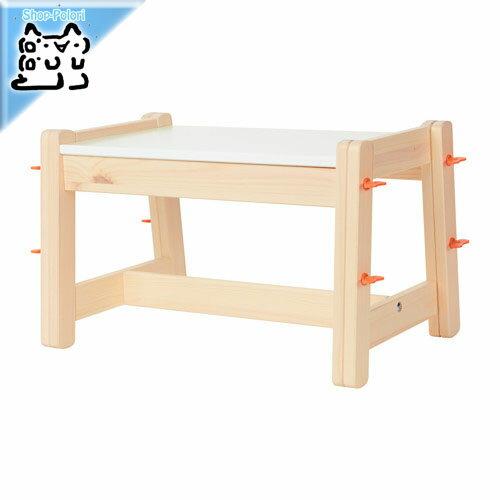 【IKEA Original】FLISAT 子供用ベンチ アジャスタブル 3段階調節 32-45cm