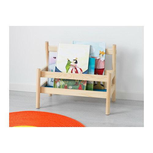 【IKEA Original】FLISAT ブックディスプレイ 新聞ラック ブックラック パイン無垢材 49 cm×28 cm