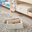 【IKEAOriginal】BYGGLEKビッグレクレゴ®ボックスふた付きホワイト26x18x12cm