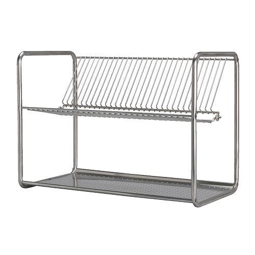 【IKEA Original】ORDNING 水切り ステンレススチール 50x27x36cm