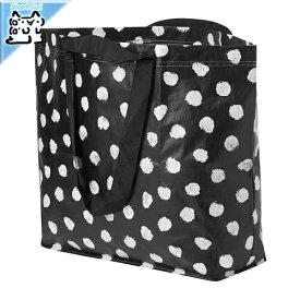 【IKEA Original】SKRUTTIG バッグ ホワイト ブラック 45x45 cm