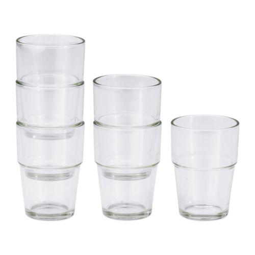 【IKEA Original】REKO グラス クリアガラス 6ピース
