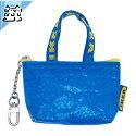 【IKEAOriginal】KNOLIGバッグSブルー22x17x30cm