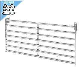 【IKEA Original】KUNGSFORS -クングスフォルス- ウォールグリッド ステンレススチール 56x26.5 cm