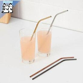 【IKEA Original】UPPSLUKAD 飲み物用ストロー/掃除用ブラシ ステンレススチール マルチカラー