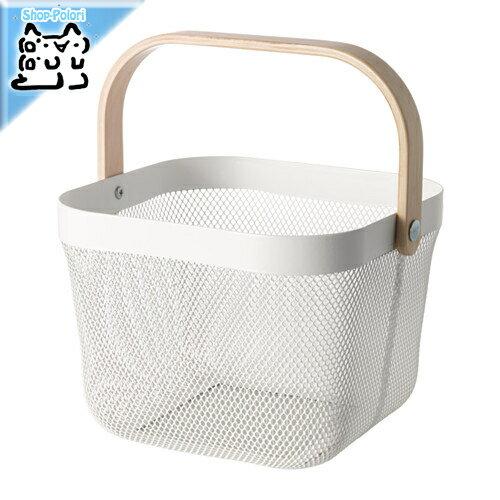【IKEA Original】RISATORP バスケット ホワイト 25x26x18 cm