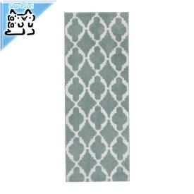 【IKEA Original】AUNING キッチンマット ライトグリーン ホワイト 45x120 cm