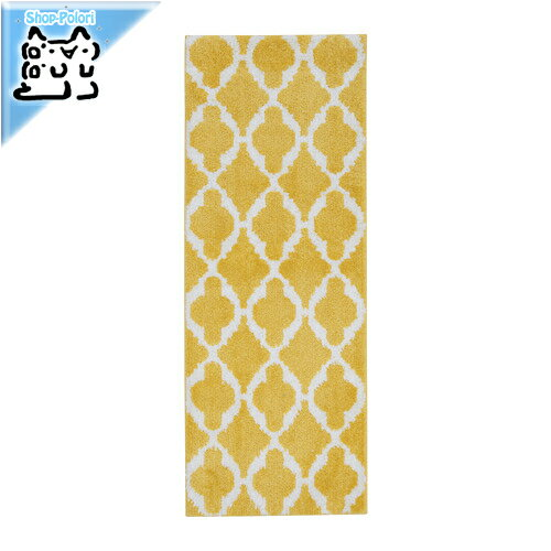 【IKEA Original】AUNING キッチンマット イエロー ホワイト 45x120 cm
