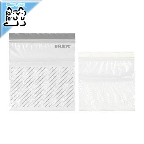 【IKEA Original】ISTAD プラスチック袋 グレー/ホワイト 50PCS 2.5L袋*25/1.2L袋*25