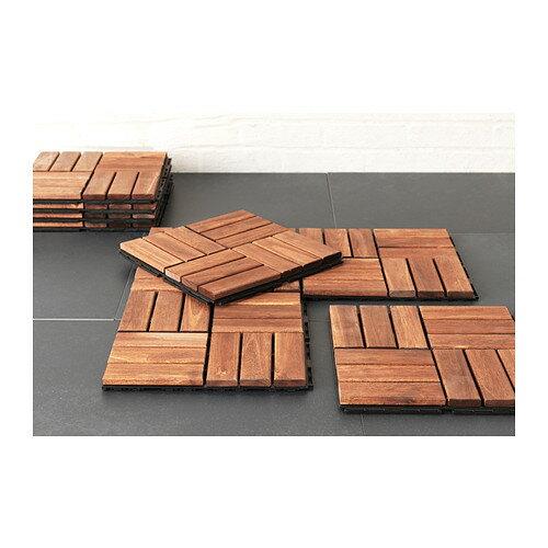 【IKEA Original】-送料込- RUNNEN アカシア木材 フロアデッキ ブラウン テラスやバルコニーに