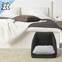 【IKEAOriginal】LURVIGペットネコ用ベッド/ハウスブラックホワイト38x38x37cm
