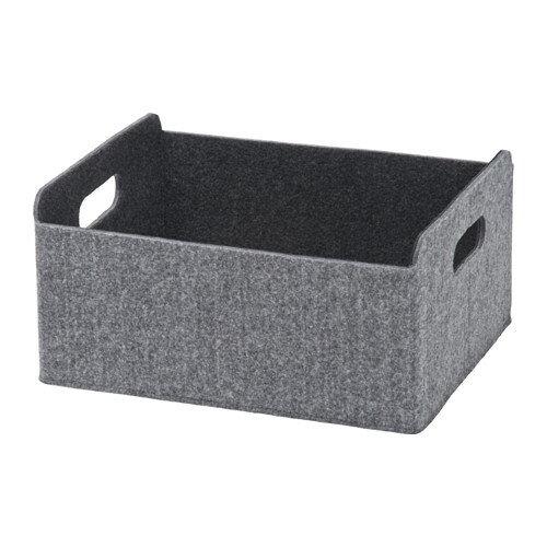 【IKEA Original】ikea ボックス おもちゃ 収納 BESTA フェルト地 ボックス グレー25x31x15 cm