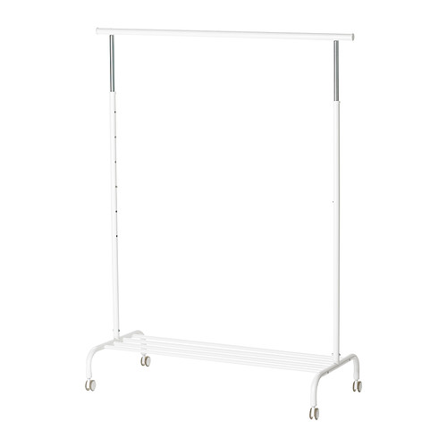 【IKEA Original】RIGGA 洋服・ハンガーラック ホワイト