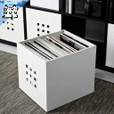 【IKEA Original】LEKMAN 組み立て プラスチックボックス ホワイト 33x37x33 cm