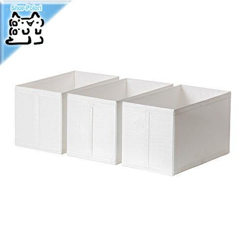 【IKEA Original】SKUBB-スクッブ- ボックス 3ピースセット ホワイト 31×55×33 cm