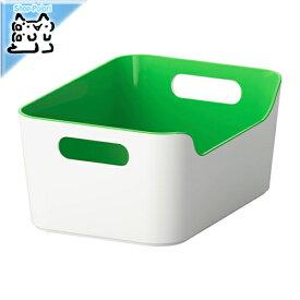 【IKEA Original】VARIERA ボックス グリーン 24x17 cm 収納ボックス
