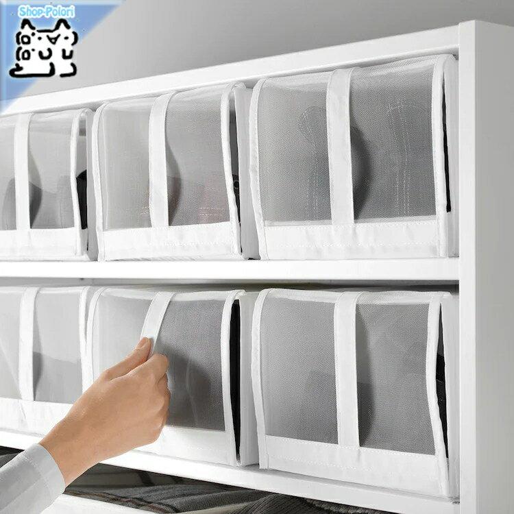 【IKEA Original】SKUBB-スクッブ- シューズ収納ボックス 4 ピースセット ホワイト 22×34×16 cm