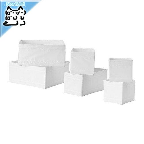 【IKEA Original】ikea 収納 SKUBB-スクッブ- ボックス6点セット ホワイト