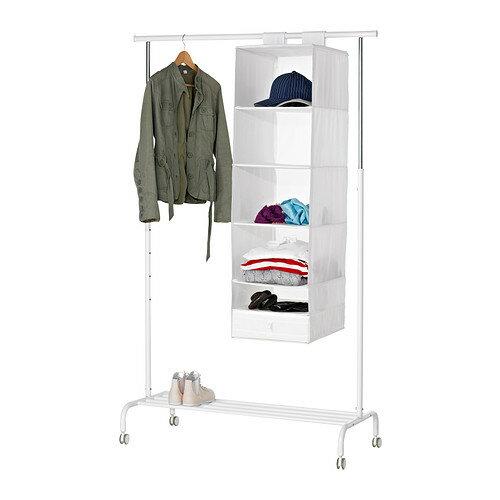 【IKEA Original】SKUBB-スクッブ- ワードロープ内 収納 6コンパートメント ホワイト 35x45x125 cm