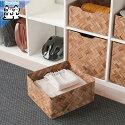 【IKEAOriginal】BULLIGボックス竹ブラウン32x35x16cm