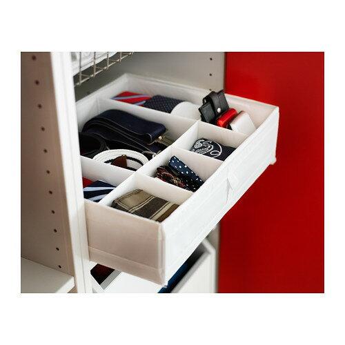 【IKEA Original】SKUBB-スクッブ- 仕切り付き 収納ケース ボックス ホワイト 44x34x11 cm