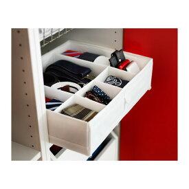 【IKEA Original】SKUBB -スクッブ- 仕切り付き 収納ケース ボックス ホワイト 44x34x11 cm