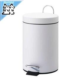 【IKEA Original】VORGOD ペダル式ゴミ箱 ホワイト コンパクト 3L ダストボックス