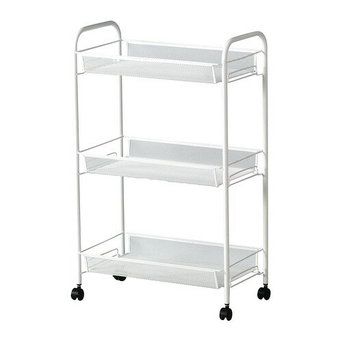 【IKEA Original】ikea キッチンワゴン HORNAVAN バスワゴン/キッチンワゴン ホワイト 26x48x77 cm