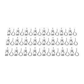 【IKEA Original】RIKTIG カーテンフック クリップ付き 24ピース