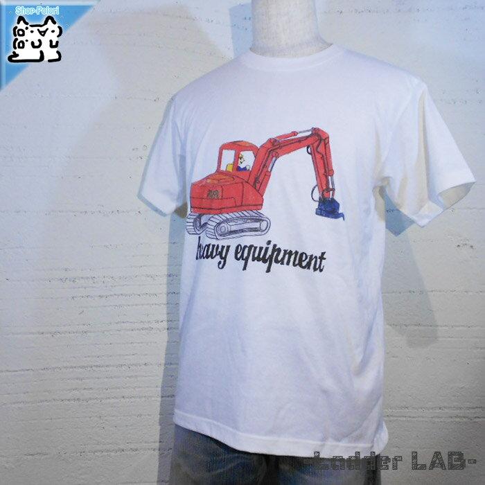 【Ladder LAB】メンズ プリントT-シャツ サイズL ホワイト メンズ 綿100%