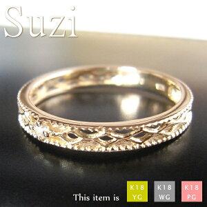 ピンキーリング 18k 18金 ダイヤモンド リング 指輪 [Suzi] 華奢 シンプル ダイヤ k18 ゴールド 小指 レディース ピンキー 女性用 プレゼント マイナス 小さい サイズ 細 ring -2号 -1号 0号 1号 2号 3号 4号 5号 6号 7号