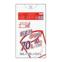 KN-74 1冊あたり73円 10枚x100冊 エコ袋 70リットル 0.015mm厚 半透明/ 新素材ポリ袋 ポリ袋 ゴミ袋 ごみ袋 サンキョ…