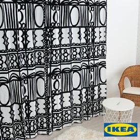 北欧カーテン 【レビーバ】【IKEA】モノクロ 綿100% おしゃれ デザイナーズ 幾何学模様 男性 白黒 モノトーン カフェ シンプル イケア オーダーメイド オーダーカーテン 人気 定番 メンズ リビングカーテン