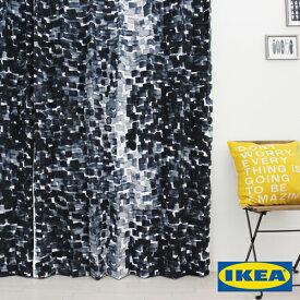 カーテン【ストックホルム2017】【IKEA】自然素材 コットン 綿100% 北欧カーテン おしゃれ カーテン IKEA ピッタリサイズ シンプル 男性 一人暮らし メンズ ブルー 北欧 海外 デニム色 寝室 カフェ 人気 安い