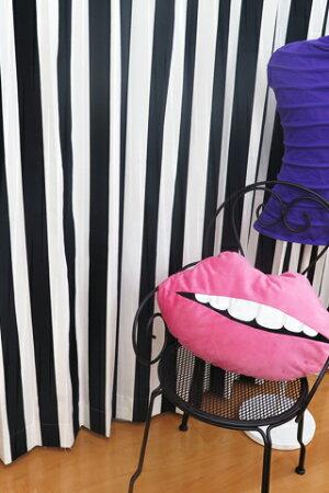 オーダーカーテン「sophiaソフィア」IKEAイケアカーテンストライプ綿100%北欧カーテンおしゃれカーテンボーダー白黒輸入カーテン安いIKEAカーテンピッタリサイズシンプル目隠し