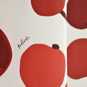 """●日本製●北欧遮光カーテン""""大きな木の実""""一人暮らしリビング寝室に!レッド赤カーテン北欧テイストplune安いカーテンオーダー"""