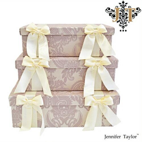ジェニファーテイラー【送料無料】【ポイント10倍】【エルモサ】3段ボックス Jennifer Talor Hermosa ラベンダー エレガント アメリカ 輸入 収納BOX 3Pボックス 小物入れ 3個セット