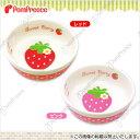 【ポンポリース】フードディッシュ・イチゴ /犬 /猫 食器 水入れ 陶器