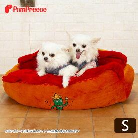 [数量限定・感謝SALE]ベッド 犬 ネコ 犬用 小型犬 マット かわいい かわいい S メキシカンドッグ / ホットドッグカドラー [ポンポリース]