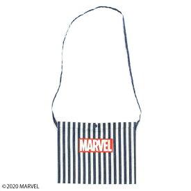 【MARVEL(マーベル)】ボックスロゴ ボーダーサコッシュ