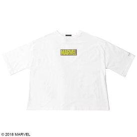 【MARVEL(マーベル)】ハルク/マーベルボックスロゴ ショート丈レディースTシャツ
