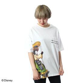 【Disney(ディズニー)】「キングダム ハーツ」 グーフィー ポケット付Tシャツ